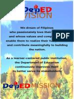 Deped Vision, Mission, Goals
