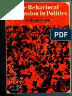 Heinz Eulau - The Behavioral Persuasion in Politics.pdf