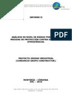 Informe II - Analisis de Nivel de Riesgo Por Rayos.