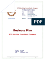 Sample Business Plan NTH Wedding Consultants