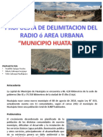 1 Propuesta Area Urbana Municipio Huatajata 2016