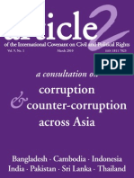 01 Mar 2010 -- A consultation on corruption & counter-corruption across Asia