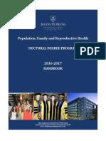 PFRH 16 17 PhD Handbook