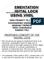 Implementation of Digital Lock Using Vhdl