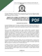 ORDENANZA SOBRE LOS SIMBOLOS CIVILES Y FECHAS OFICIALES CONMEMORATIVAS DEL MUNICIPIO ANDRES ELOY BLANCO DEL ESTADO SUCRE