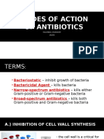 Modes of Action of Antibiotics
