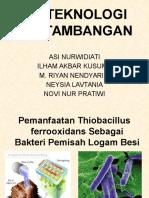 BIOTEKNOLOGI PERTAMBANGAN BIOLOGI