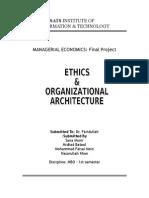 Managerial Economics- Etics and organizational Archiecture - literature