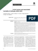 Cancer de Cervix y Mortalidad Asociada en Granada