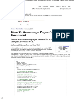 How to Rearrange Pages in a..