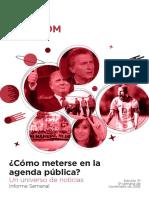 Labcom - Informe Semanal de Agenda Pública - Noviembre 16, Semana 3
