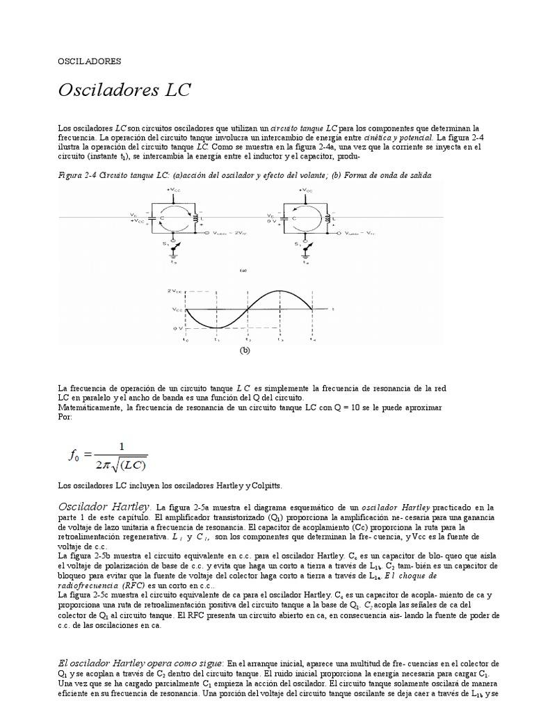 Circuito Oscilador : Lab rf oscilador a cristal