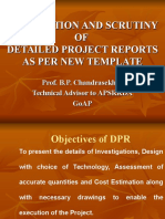 Dprs Preparation as Per New Template