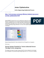 Industrial Systems Optimization NRCAN