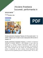 Scoala Particulara Anastasia Popescu Bucuresti