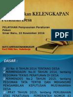 Pb. Pelatihan Peraturan Desa
