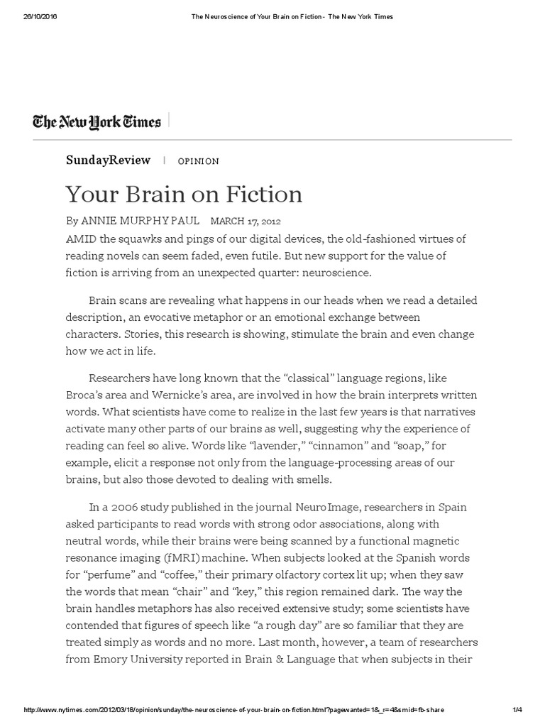 your brain on fiction annie murphy paul