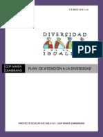 Plan Atencion a La Diversidad