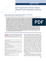 Bone Ceramic Graft Regenerates Aleveolar Defects but Slows Orthodontic Tooth Movement With Less Root Resorption