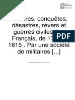 Conquetes Des Francais 1792 a 1815