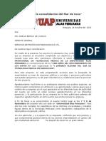 Carta de Asupicio Para Servicio de Proteccion Radiologica e.i.r.l. Lic Gisselle