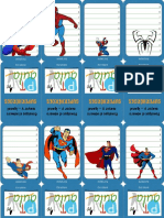 Cartas Superheroes