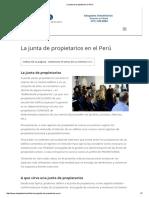 La Junta de Propietarios en Perú