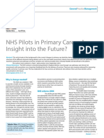 NHS Pilots in Primary Care − An