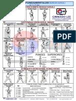 Técnicas Fundamentales de 1º a 5º Dan_Gimnasio Lee
