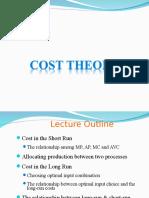Cost theory (Microeconomics)