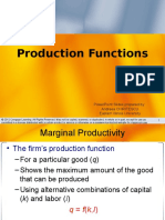 Production Functions (Microeconomics)