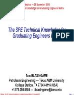 20151126 (Blasingame) Pres SPE Tech Skills Matrix MPI (WRpt) (PDF)