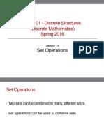 Discrete Structures Lecture 9