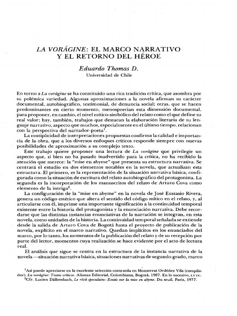 La Voragine Y El Marco Na