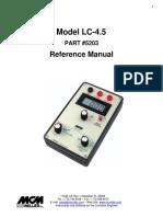 (MAN100) LC-4.5 Meter Manual (9.12.2012)