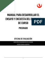 Manual Ensayo y Encuesta