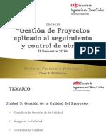 Clase 9 Gestión de Proyectos para el seguimiento y control de obras- UDP