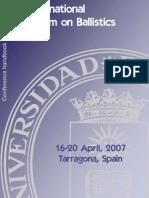 Simposium Balistica Tarragonba ISB2007 Final Program