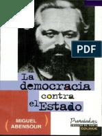Abensour, La Democracia Contra El Estado