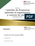 Clase 11 Gestión de Proyectos para el seguimiento y control de obras- UDP
