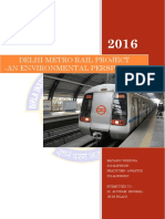 ENVIRONMENTAL IMPACTS OF DELHI METRO RAIL PROJECT - Environmental Perspective