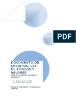 DOCUMENTO DE CREDITOS, LEY DE TITULOS Y VALORES