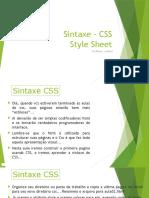 Aula 02 Sintaxe CSS