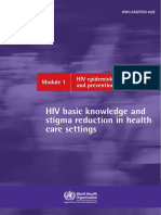 Module 1 HIV epidemiology, transmission and prevention
