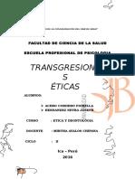 transgresiones eticas