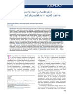 Evaluation of Corticotomy - Facilitated Orthodontics and Piezocision in Rapid Canine Retraction