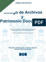 BOE-092 Codigo de Archivos y Patrimonio Documental
