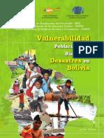 Vulnerabilidad Poblacional al Riesgo de Desastres en Bolivia