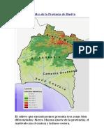 Relieve Geográfico de La Provincia de Huelva