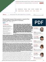 Raportul Final Asupra Holocaustului Si Raportul Final Asupra Dictaturii Comuniste in Romania - Revista 22 - Saptamanal Independent de Analiza Politica Si Actualitate Culturala